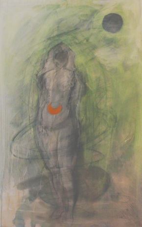 Symbolist Drawing #1  2012 Mixed media drawing on paper  55cm x 85cm